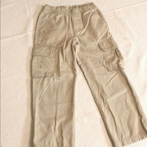 Children's Place khaki cargo pull on pants boys 7